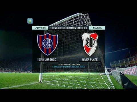 san - Transmisión on line del partido entre San Lorenzo y River por la fecha 5 del Torneo Primera División 2014. FPT.