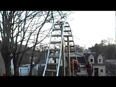 Back Yard Pvc Roller Coaster With a 12 Ft Drop
