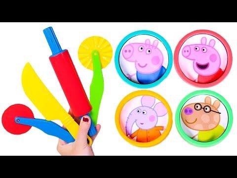 PEPPA PIG  Jugamos con Peppa Pig y plastilina Play Doh de colores