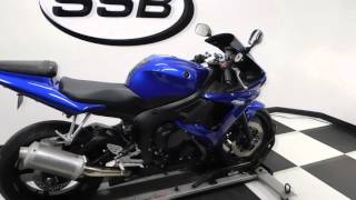 4. 2008 Yamaha YZF-R6S Blue - used motorcycle for sale - Eden Prairie, MN