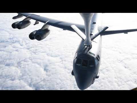 A U.S. Air Force B-52 Stratofortress...