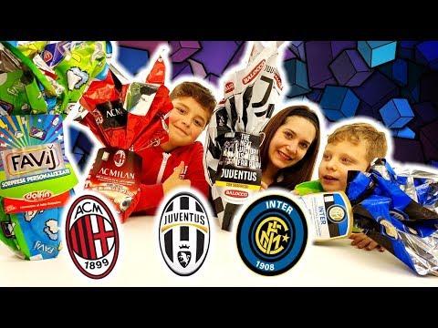 Uova Juve, Milan, Inter: Le Super Sorprese Delle Squadre Di Calcio Del Cuore