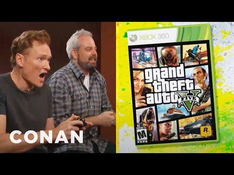 reviews - CONAN Highlight: Conan drives the mean streets of Los Santos but is most concerned with trying to flirt at the strip club. More CONAN @ http://teamcoco.com/v...