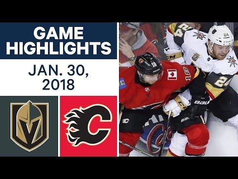 Video: NHL Game Highlights | Golden Knights vs. Flames - Jan. 30, 2018