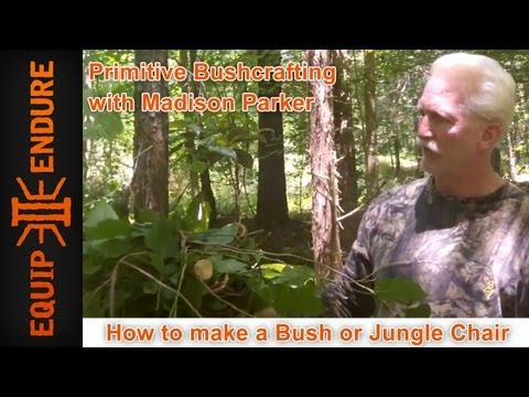 Madison Parker - How to Make a Bush or Jungle Chair by Madison Parker Using Material Found in Field This is a true How-To instructional video by Madison Parker to make a Jung...