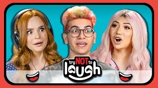 Video YouTubers React to Try to Watch This Without Laughing or Grinning #19 MP3, 3GP, MP4, WEBM, AVI, FLV Agustus 2018