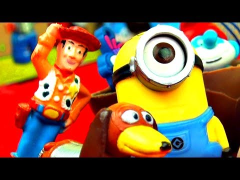McQueen Teaches Toys to Eat Healthy - Disney Cars Despicable Me Spongebob Toytown Adventures Story