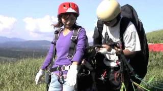 Kokonoe Japan  City new picture : Tandem Paragliding kokonoe oita japan 九重町体験パラグライダー090826tandem1