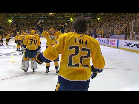 Video: Predators' Fiala helps tie series with double OT winner