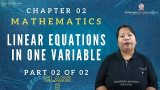 Chapter 2 Part 2 of 2 - Linear equations in one variable