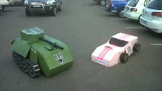 Tank and Car Transformer Costumes