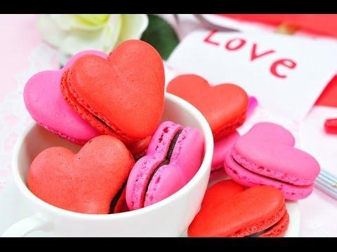FoodTravelTVChannel - มาการองรูปหัวใจ Heart Macaron มาการองเป็นขนมที่มีสีสันสวยงาม มีรสชาติที่หวาน...