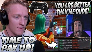 Tfue SHOCKS NickMercs After He Bets $2500 That Tfue CAN'T Get More Kills Than Him On CONTROLLER!