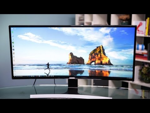 This ultra-wide Samsung curved monitor is ultra fine