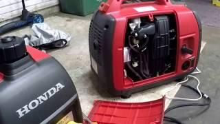 2. Honda Generators  eu 2000 i and Companion 30a Review