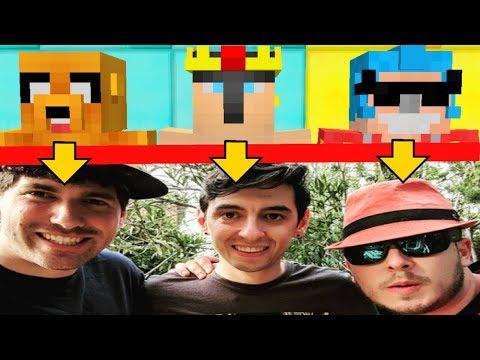 DE MINECRAFT A LA VIDA REAL  MIKECRACK, ELTROLLINO Y TIMBA VK  EL TAG DEL YOUTUBER