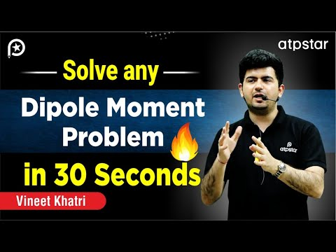 Solve Dipole moment Problems in 30 seconds- By Vineet Khatri