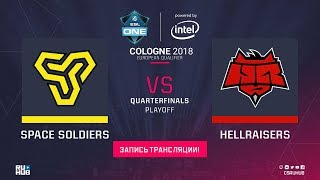 Space Soldiers vs HellRaisers - ESL One Cologne EU Quals - map3 - de_dust2 [GodMint, Anishared]