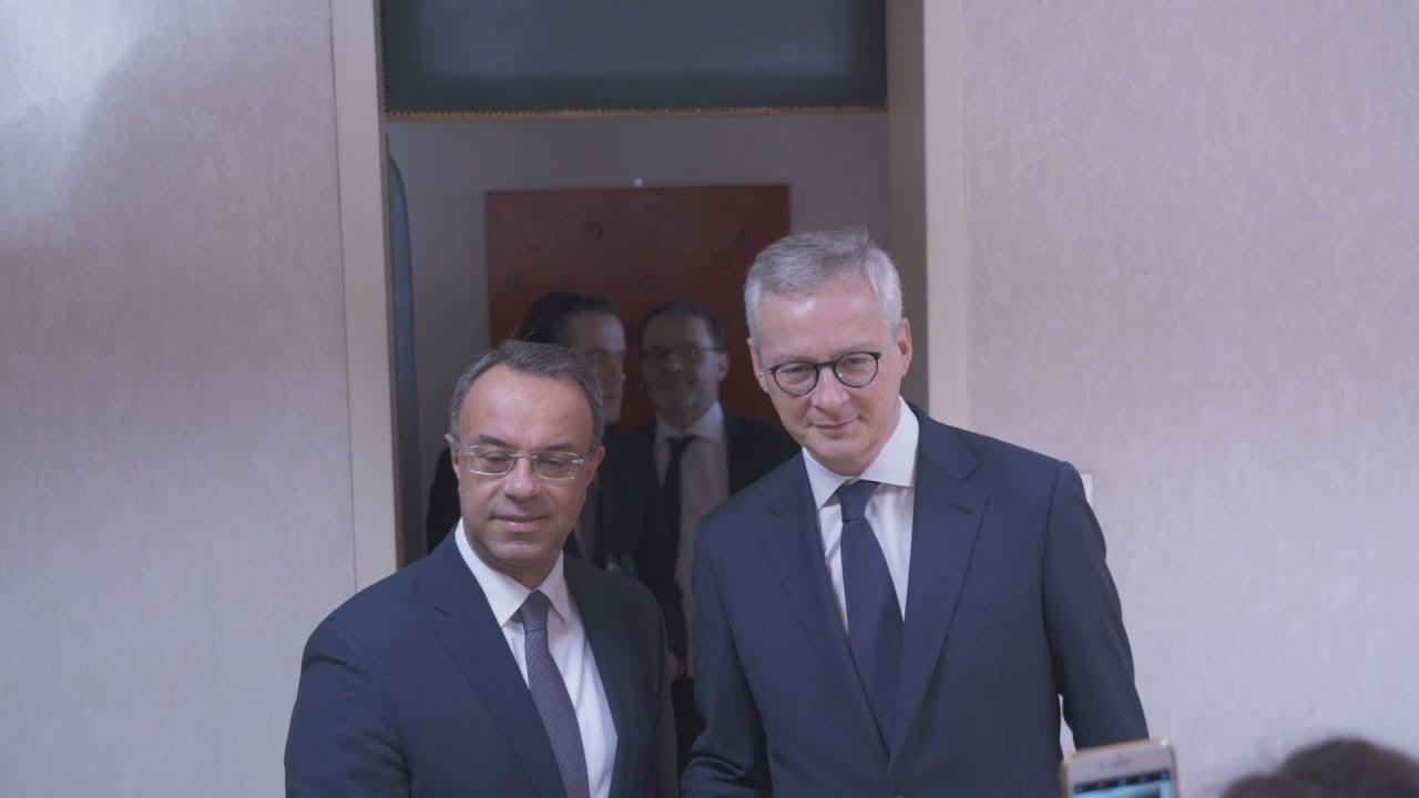 Με τον γάλλο υπουργό Οικονομικών  ο Χρ. Σταϊκούρας