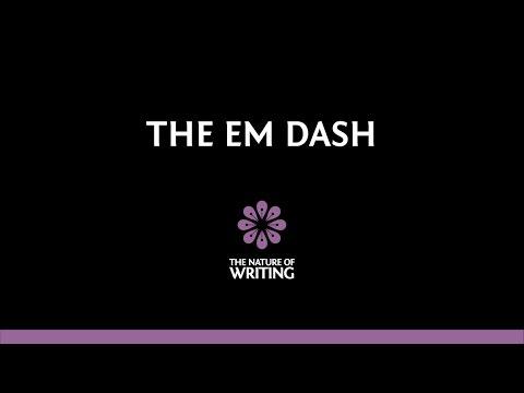 The Four Uses of the Em Dash (видео)