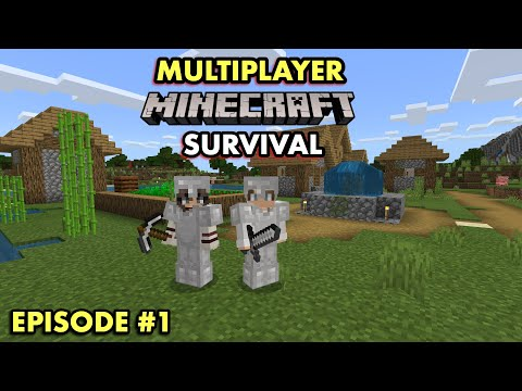 A GREAT START in Multiplayer Minecraft Survival (Ep. 1)