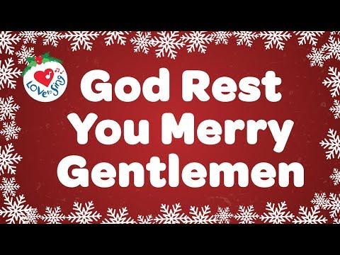 God Rest You Merry Gentlemen with Lyrics Christmas Carol Song