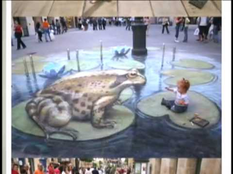Chalk Artist Goes 3-D (CBS News)