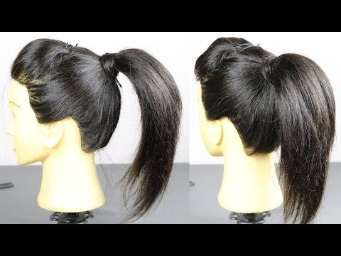 Hairstyles for short hair - छोटे बालो के लिए बनाये बहुत आसान Ponytail  Hairstyle For Short Hair  Hair style girl Hairstyle