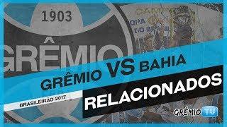 Confira os relacionados do Tricolor para a partida contra o Bahia válida pela 6ª rodada do Campeonato Brasileiro 2017. → Inscreva-se no canal e faça parte da...