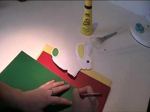 Kaninchen aus Wellpapier basteln Video