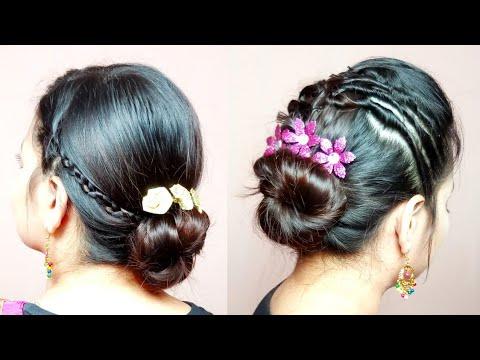 Easy hairstyles - Easy Festival Navratri Special Updo/Bun/Juda+Scalp Revealing HairstylesHairCareAlwaysPrettyUseful