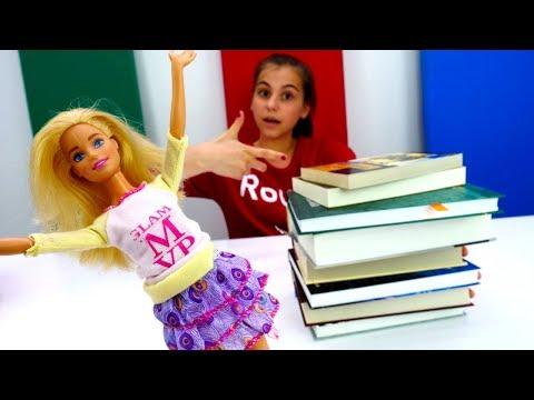Мультики для девочек - Барби сдает экзамен - Видео про кукол - DomaVideo.Ru