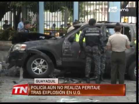Policía aun no realiza peritaje tras explosión en U.G.