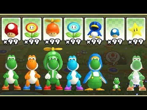 New Super Mario Bros. Wii - All Yoshi Power-Ups (видео)