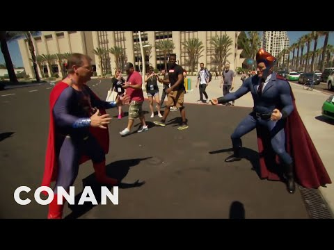 Conan Patrols Comic-Con In His Superhero Suit