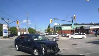 Orillia (ON) Canada  city photos gallery : Dash Cam Footage of Accident - Orillia, Ontario, Canada