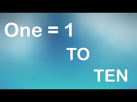 ONE = 1 To TEN Numebrs With Spellings | Nursery Children Video.