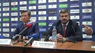 Как Квартальнов и Быков друг друга поздравляли (07.04.2015) - Видео о спорте