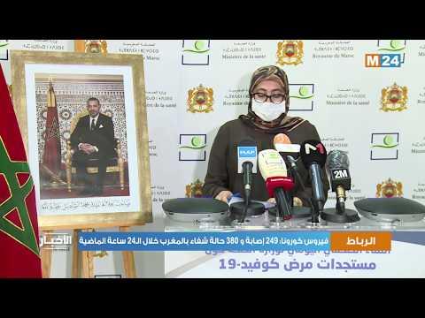 فيروس كورونا: 249 إصابة و 380 حالة شفاء بالمغرب خلال الـ24 ساعة الماضية