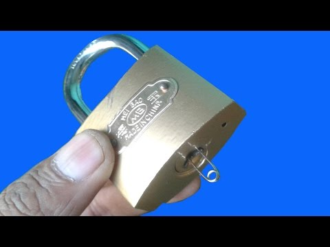 3 Ways Open A Lock With Safety Pin
