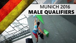 Munich Bouldering World Cup 2016 | Male Qualifiers by OnBouldering