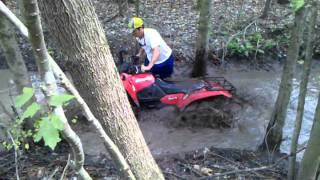 9. Suzuki kingquad 400 in nasty Trail on 29.5 outlaws!!