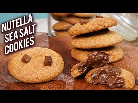 Eggless Nutella Seasalt Cookies | How To Make Cookies | Nutella Cookies Recipe | Bhumika