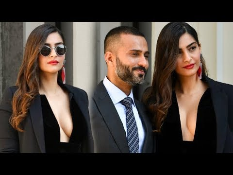 Sonam Kapoor H0T Look With Anand Ahuja At Giorgio
