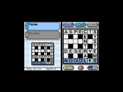 crosswords nintendo ds español