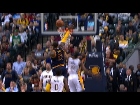 LeBron James With The Incredible Chasedown Block In Indiana  April 23, 2017