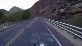 6. Southern Utah ride aboard a Yamaha Roadliner.