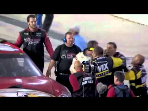 Kurt Busch, Ryan Newman Exchange Shoves at Bojangles' Southern 500