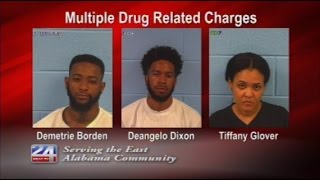Three Arrested on Multiple Drug Charges