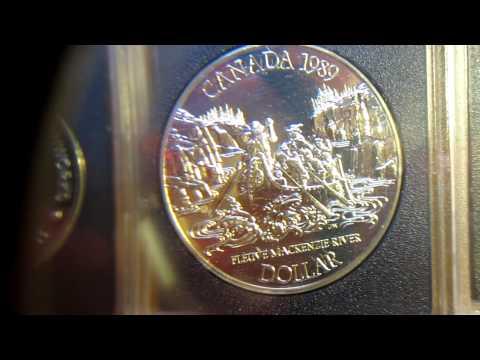 Canadian Silver Dollars Garage Sale Haul